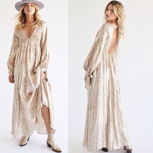 NWT Free People Luxalina Metallic Maxi Dress